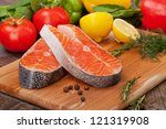 trout fillet with the... | Shutterstock . vector #121319908