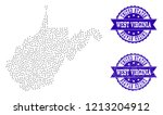 dotted black map of west...   Shutterstock .eps vector #1213204912