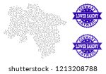 dotted black map of lower... | Shutterstock .eps vector #1213208788