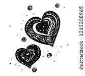 heart with ray doodles you can... | Shutterstock .eps vector #1213208965