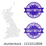 dotted black map of great...   Shutterstock .eps vector #1213212808