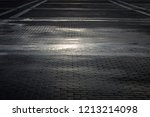 background of city cobbles | Shutterstock . vector #1213214098