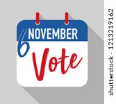 reminder to vote in the united... | Shutterstock .eps vector #1213219162