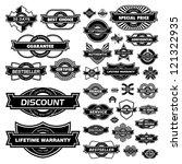 vector set of sale design... | Shutterstock .eps vector #121322935