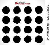 set of round grunge vector... | Shutterstock .eps vector #121323682