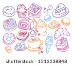 vector set of many different... | Shutterstock .eps vector #1213238848