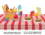 picnic and food   Shutterstock .eps vector #1213238935