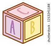 puzzle cube baby toy | Shutterstock .eps vector #1213241188