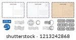 backside blank travel postcard...   Shutterstock .eps vector #1213242868