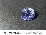 natural purple sapphire gemstone | Shutterstock . vector #1213243498