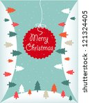 merry christmas | Shutterstock .eps vector #121324405