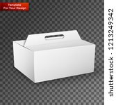 white product package box... | Shutterstock .eps vector #1213249342
