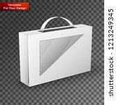 white product package box... | Shutterstock .eps vector #1213249345