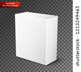 white product package box... | Shutterstock .eps vector #1213249465