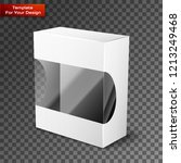white product package box... | Shutterstock .eps vector #1213249468