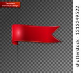 red bookmarks isolated on... | Shutterstock .eps vector #1213249522
