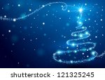 magic christmas tree | Shutterstock . vector #121325245