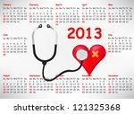 medical calendar for 2013 year | Shutterstock .eps vector #121325368