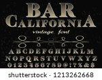 vector illustration font script ... | Shutterstock .eps vector #1213262668