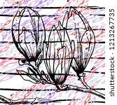 tropical  stripe  animal motif. ...   Shutterstock .eps vector #1213267735