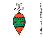 doodle color christmas icon.... | Shutterstock .eps vector #1213269262