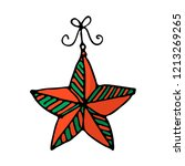 doodle color christmas icon.... | Shutterstock .eps vector #1213269265