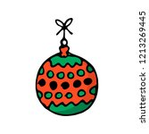 doodle color christmas icon.... | Shutterstock .eps vector #1213269445