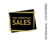 the words pre christmas sales... | Shutterstock .eps vector #1213293082