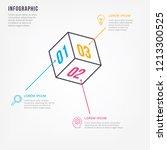 thin line minimal infographic...   Shutterstock .eps vector #1213300525
