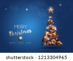 merry christmas and new year... | Shutterstock .eps vector #1213304965