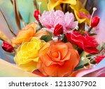 fake bouquet and flower. | Shutterstock . vector #1213307902