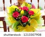 fake bouquet and flower. | Shutterstock . vector #1213307908