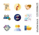 partnership icon set. vector... | Shutterstock .eps vector #1213308625