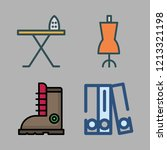 clothing icon set. vector set... | Shutterstock .eps vector #1213321198