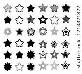 set of black vector stars on... | Shutterstock .eps vector #1213321822