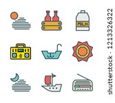 wave icon set. vector set about ... | Shutterstock .eps vector #1213326322