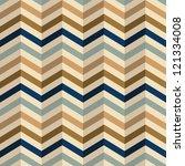 zigzag pattern in retro colors  ... | Shutterstock .eps vector #121334008
