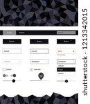 dark gray vector style guide...