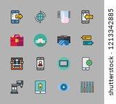 smart icon set. vector set... | Shutterstock .eps vector #1213342885