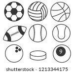 set sport balls. balls icon....