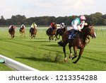 Small photo of HORSE RACING - The Frankel colt Collide ridden by James Doyle and owned by Mr K Abdullah wins at Nottingham Races : Colwick Park, Nottingham, UK : 17 October 2018 : Pic Mick Atkins