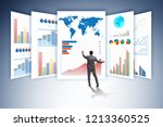 concept of business charts and... | Shutterstock . vector #1213360525