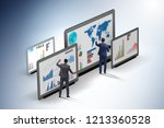 concept of business charts and... | Shutterstock . vector #1213360528