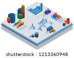 isometric view of various... | Shutterstock . vector #1213360948