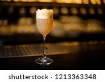 sweet wine glass filled with... | Shutterstock . vector #1213363348
