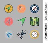 guidance icon set. vector set... | Shutterstock .eps vector #1213364338