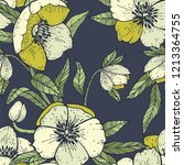 seamless pattern with... | Shutterstock .eps vector #1213364755