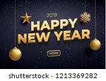 new year 2019 background place... | Shutterstock .eps vector #1213369282