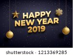new year 2019 background place... | Shutterstock .eps vector #1213369285
