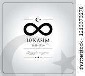 10 kasim vector illustration. ... | Shutterstock .eps vector #1213373278
